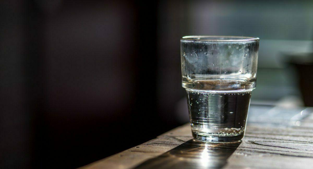 Glas helder water